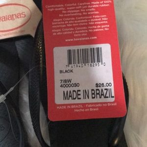 Havaianas Shoes - NWT Havainas- Black